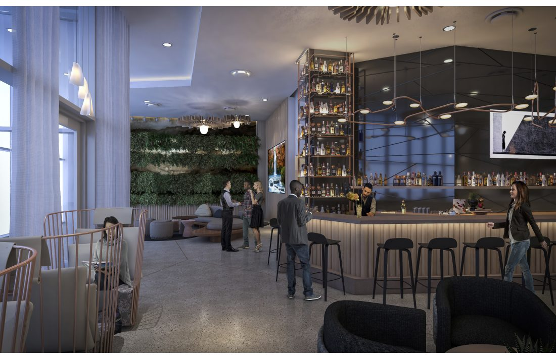 The future bar of the Westin in Tempe, AZ